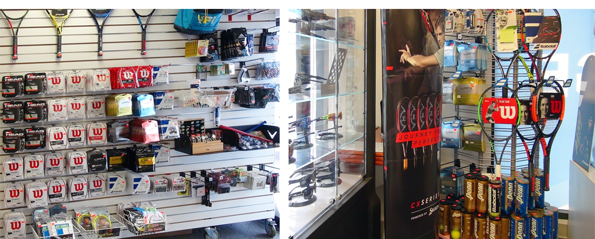 Products are displayed on the slatwalls