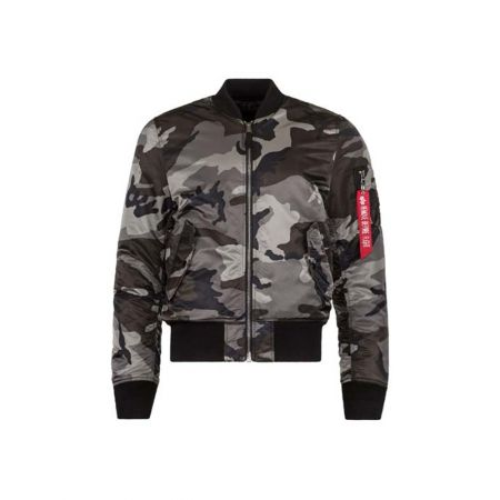 Alpha Industries MA-1 Slim Fit / European Fit Black Camo
