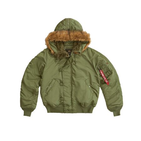Alpha Industries N-2b Short Waist Parka Sage Green