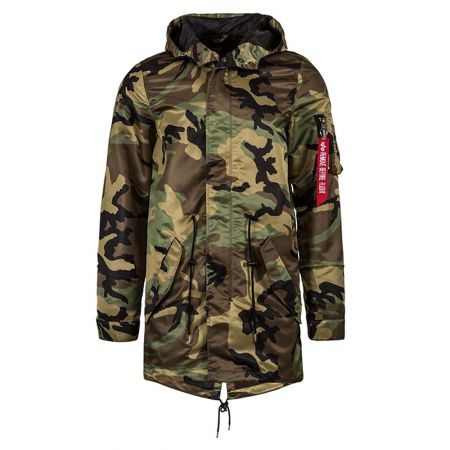 Alpha Industries Nylon Fishtail Mod Woodland Camo