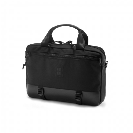 TOPO DESIGNS Commuter Briefcase Ballistic Black / Black Leather