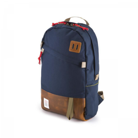 TOPO DESIGNS Daypack Navy / Brown Leather