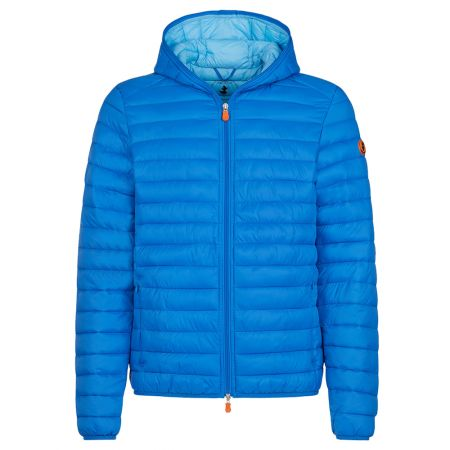 Save The Duck MENS GIGA PUFFER HOODED JACKET IN MARINA BLUE