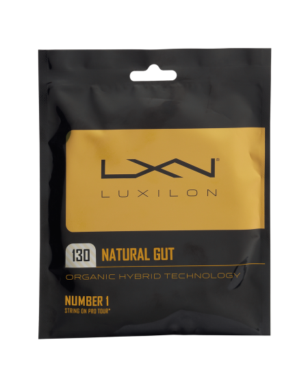 Luxilon Natural Gut Racket String (16L Gauge, 1.30 mm)